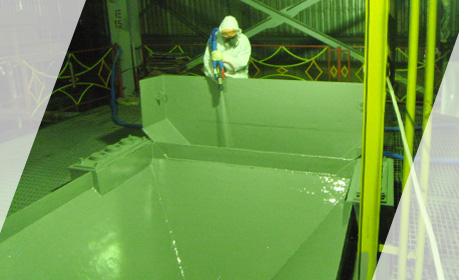 REMACOAT A80 coating in a Bulk Material Funnel