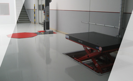Conductive WHG coating in a production room